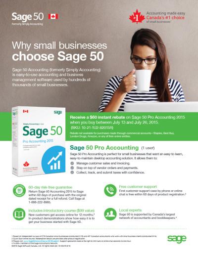 Sage 50 Canada - Ingram Micro Promo Flyer