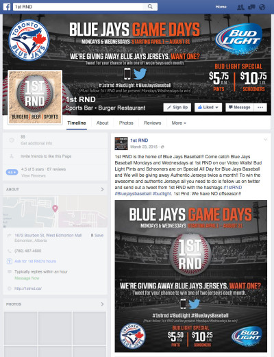 1st RND Blue Jays Game Days 2015 Facebook Graphics