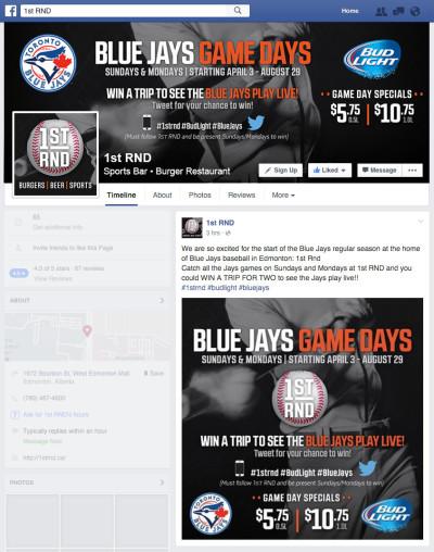 1st RND- Blue Jays Game Days 2016 Facebook Graphics