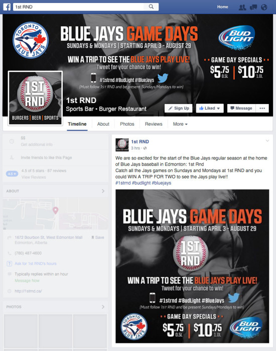 1st RND- Blue Jays Game Days 2016 Facebook Graphics