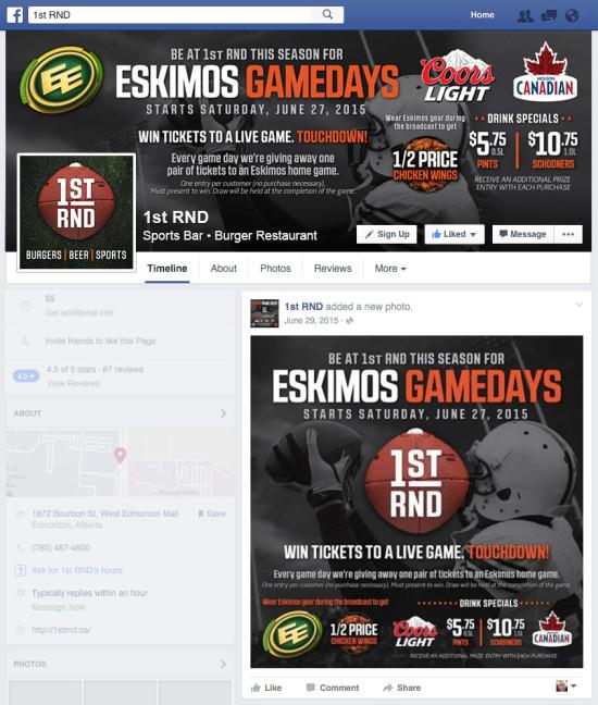 1st RND Eskimos Game Days 2015 Facebook Cover Photo