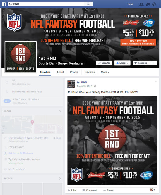 1st RND Fantasy Football 2015 Facebook Graphics