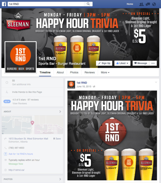 1st RND Happy Hour Facebook Graphics - Football