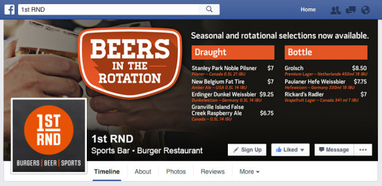 1st RND In The Rotation Facebook Cover Photo