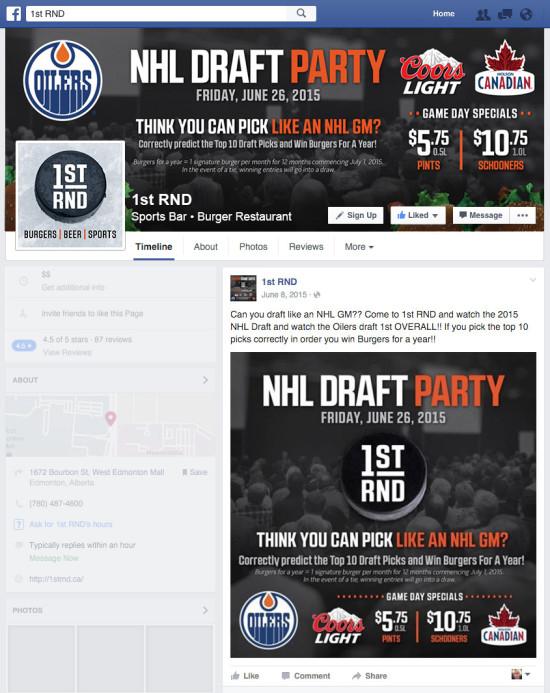 1st RND - NHL Draft Party 2015