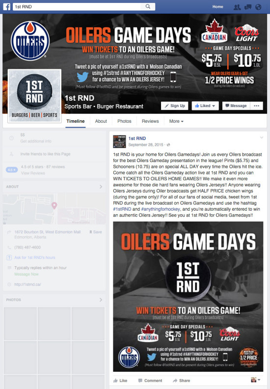 1st RND - Oilers Game Days 2015