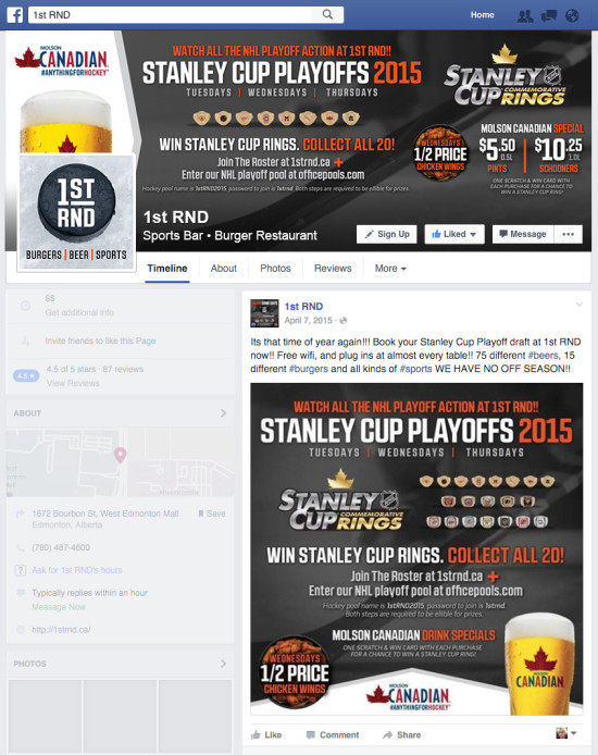 1st RND - Stanley Cup Playoffs 2015 Facebook Graphics