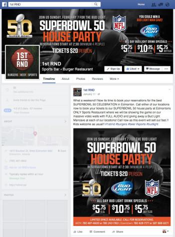 1st RND - Super Bowl 50 Facebook Graphics