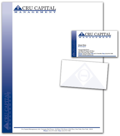 Cru Capital Management Stationary