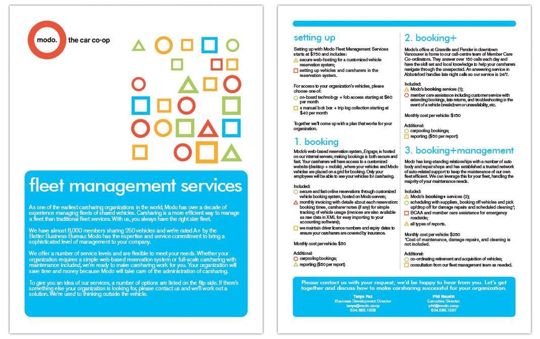 Modo Fleet Management Services Brochure