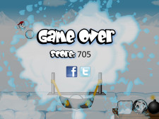 Snowbomber Screenshot - Game Over