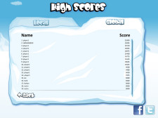 Snowbomber Screenshot - High Score Board