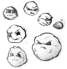 Original Fluff Concept Sketches