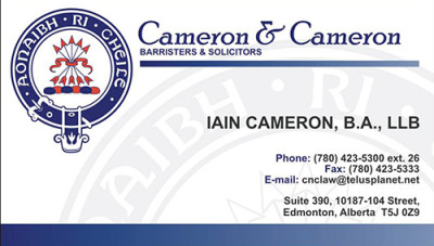 Cameron & Cameron Business Cards