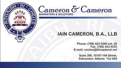 Cameron & Cameron Business Cards