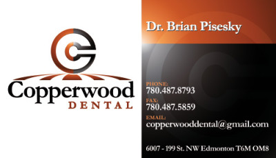 Copperwood Dental Business Cards - Front