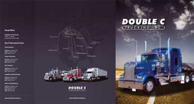 Double C Trucking Presentation Folder - Outside