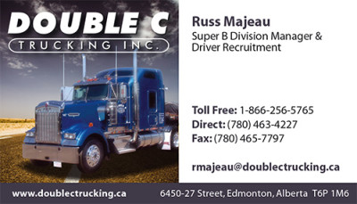 Double C Trucking Business Card