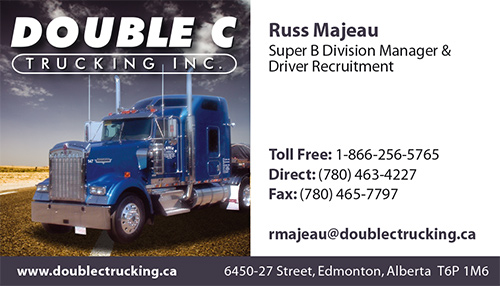 double c trucking business card - Trucking Business Cards