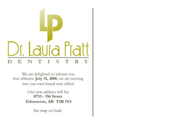 Dr. Laura Pratt Dentirsty Postcard - Back