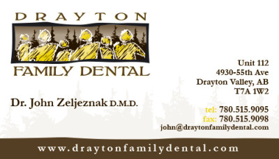 Drayton Family Dental Business Card - Front