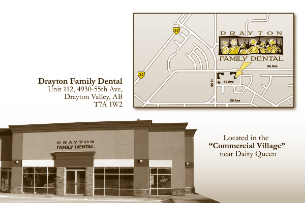 Drayton Family Dental Postcard - Back