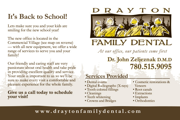 Drayton Family Dental Postcard - Front