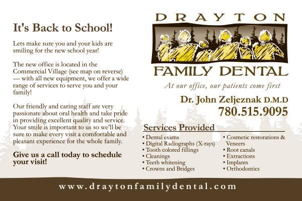 Drayton Family Dental Postcard - Front