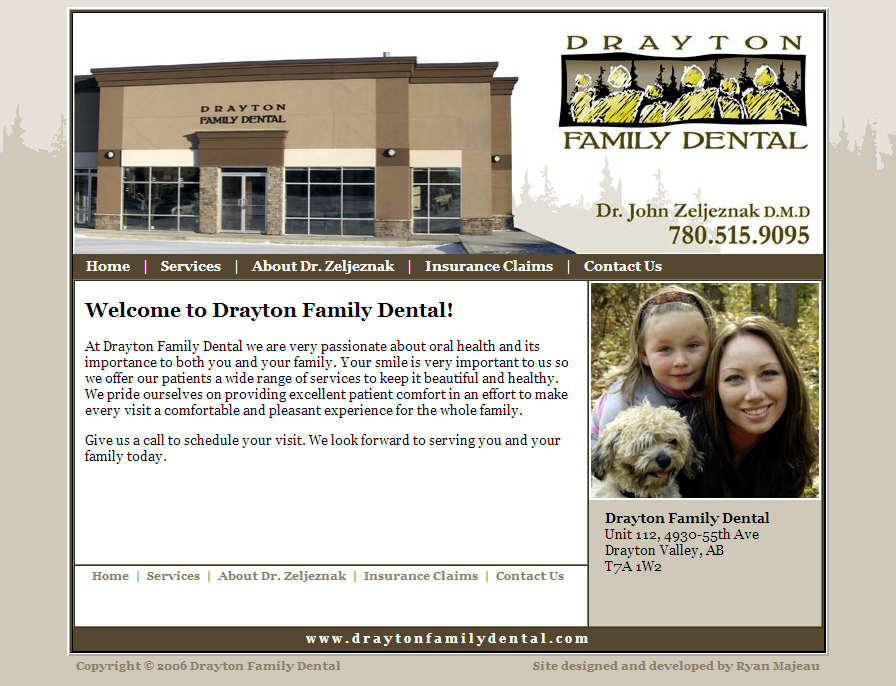 Drayton Family Dental Website