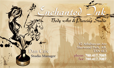 Enchanted Ink Business Card