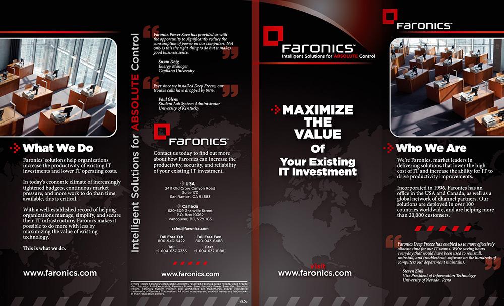 Faronics Brochure Outside
