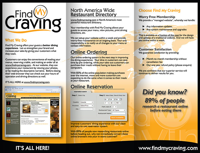 Find My Craving Brochure - Inside