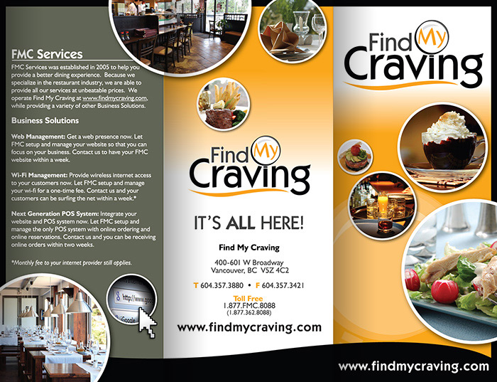 Find My Craving Brochure - Outside