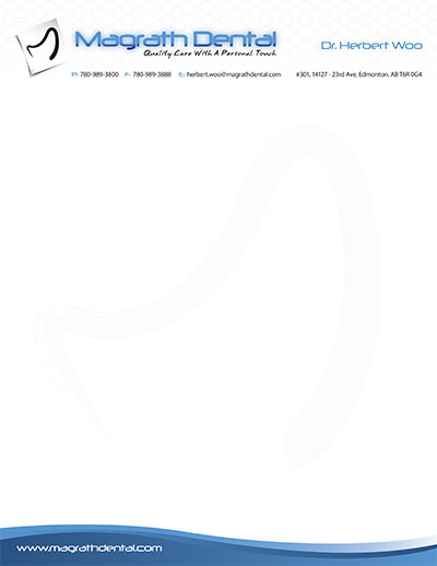 Magrath Dental Letterhead