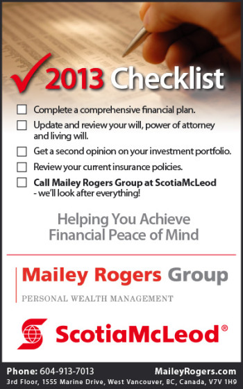 Mailey Rogers Group Ad - 2013 Checklist