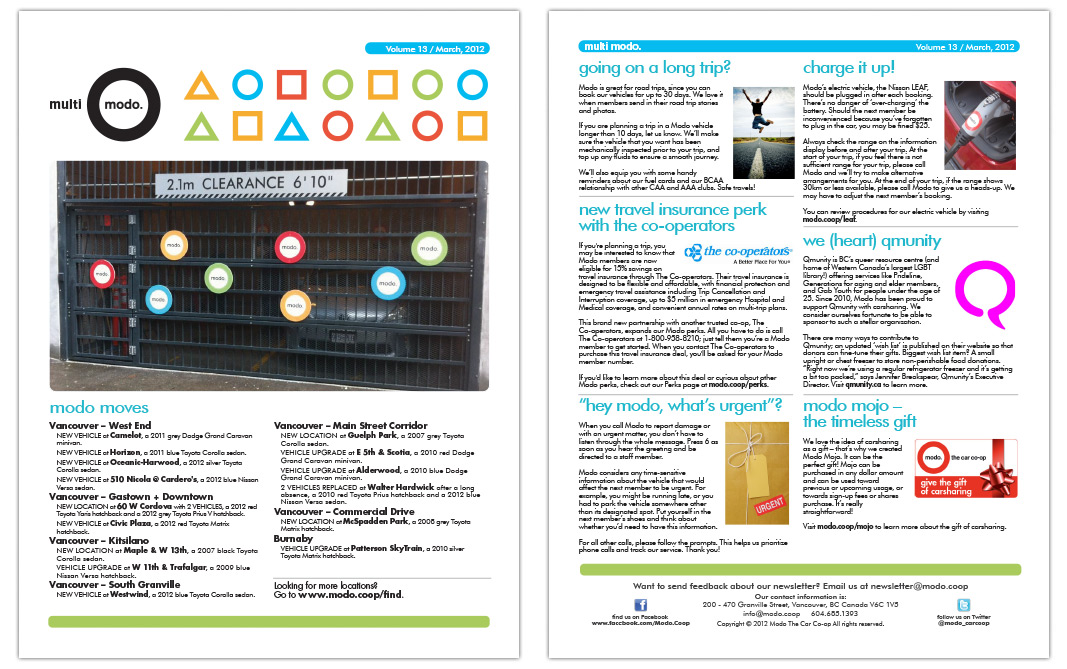 Multi-Modo Newsletter - March 2012