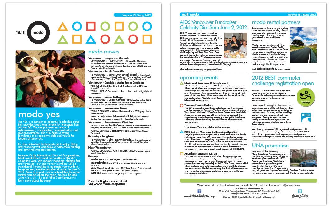 Multi-Modo Newsletter - May 2012