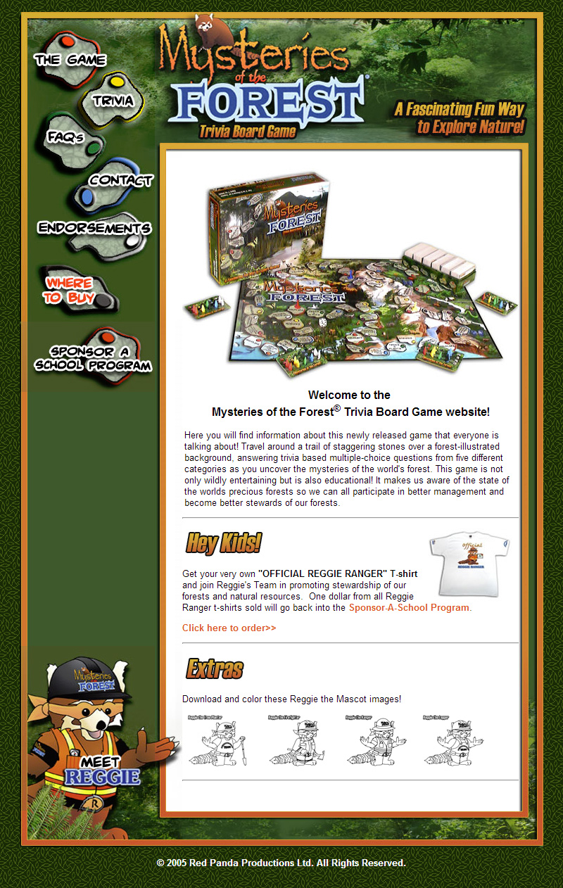 Mysteries of the Forest Board Game Website