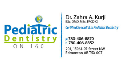 Pediatric Dentistry on 160 Business Cards