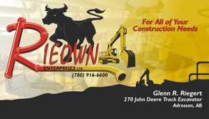 Rieown Enterprises Business Card