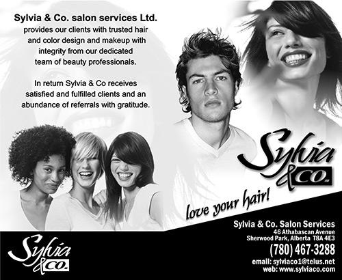 Sylvia & Co. Menu Card - Front