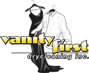 Vanity First Drycleaning Inc. Logo