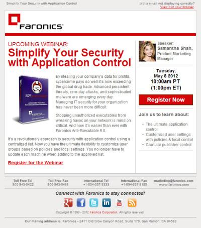 Anti-Executable Webinar Email