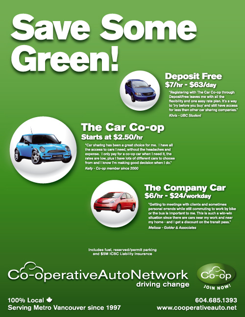 Co-operative Auto Network Ad - Green Living Show 2008