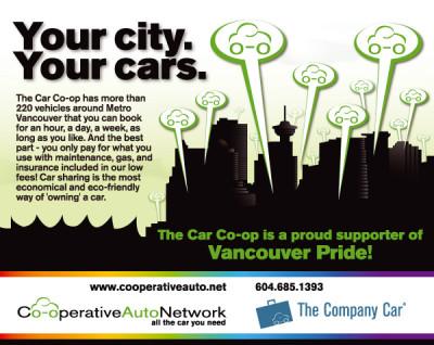Co-operative Auto Network Ad - Pride Guide 2009]