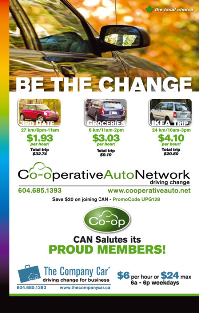Co-operative Auto Network Ad - Xtra West Ultimate Pride Guide 2008