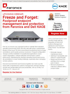 Dell KACE Webinar Email