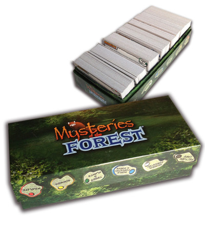 Mysteries of the Forest Trivia Board Game - Trivia Card Box