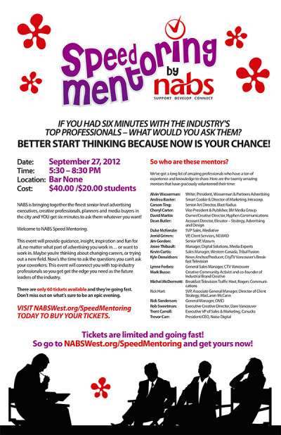 NABS Speed Mentoring Poster