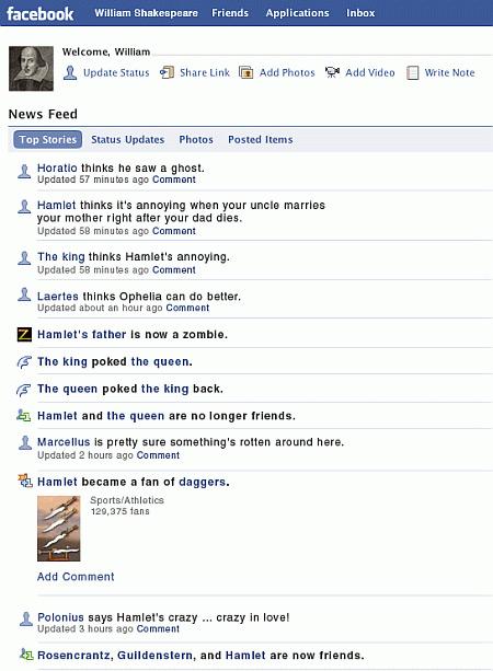 Shakespeare on Facebook